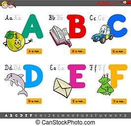 educational cartoon alphabet letters
