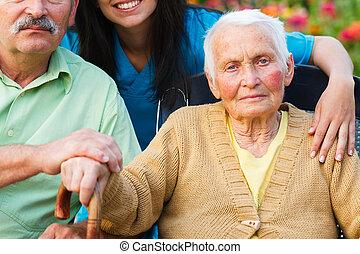 Elderly Lady with Alzheimer's Disease