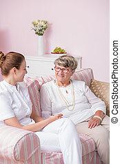 Elderly patient in nursing home