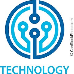 electronic circuit board technology symbol - illustration for the web
