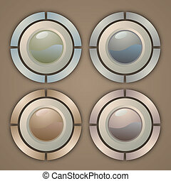 Creative design of elegance buttons