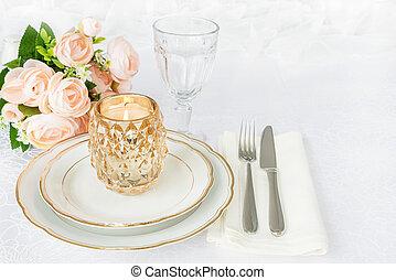 Elegance table setting