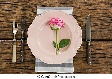 Elegance table setting on table