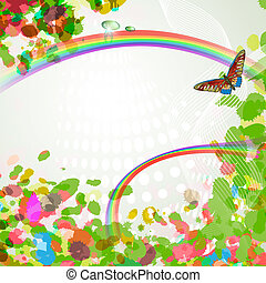 Elegant background with rainbow