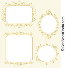 Elegant Frame Border Decorations Set