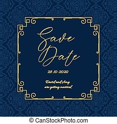 Elegant Save the date invitation design