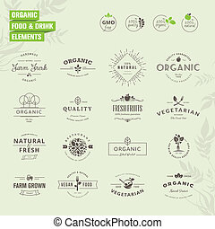 Elements for organic food and drink