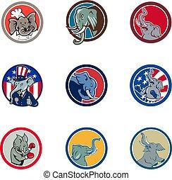 elephant-mascot-CIRC-CARTOON-SET