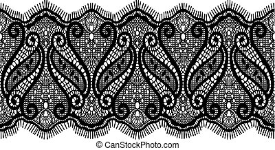 embroidered lace design in vector format very easy to edit, individual objects