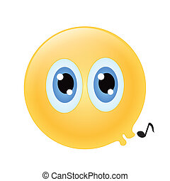 emoticon whistling
