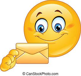 Emoticon with envelope