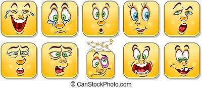Emotion faces set