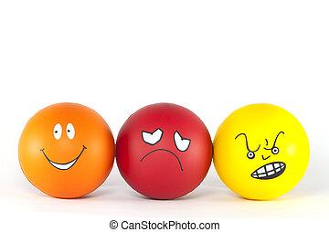 From positive to negative attitude - gradation.