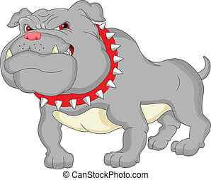English bulldog cartoon illustration