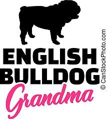 English Bulldog Grandma
