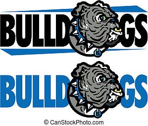 english bulldog mascot design