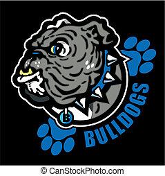 english bulldog with paw prints