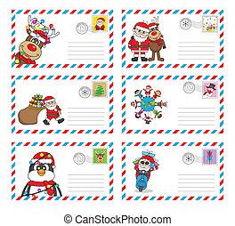 envelope to send letter to santa cl