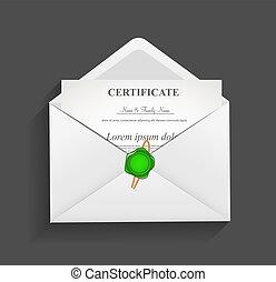 Envelope with Stamp Vector Illustration