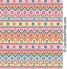Ethnic textile bright decorative native ornamental striped seamless pattern.