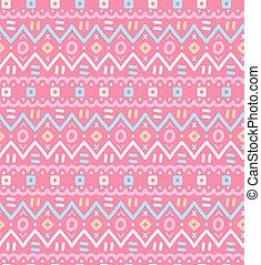 Ethnic textile decorative native ornamental striped seamless pattern.