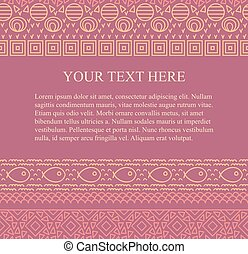 Ethnic tribal abstract seamless background pattern in vector with place for your text.