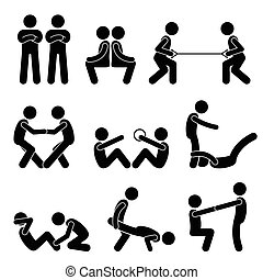 Exercise Workout with a Partner