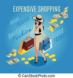 Expensive Shopping Rich Lady Composition