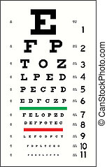 Eye Chart (in vector format, can be scaled to any size)