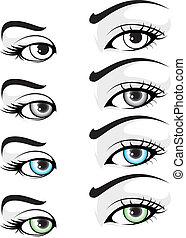 illustration of vector elegant colored eye