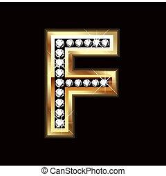 F bling letter