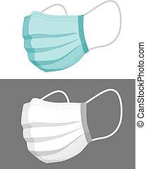 face mask illustration