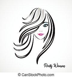 Face Of Pretty Woman Silhouette