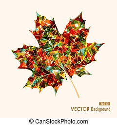 Fall season colorful transparent leaf geometric elements. Abstract autumn background. EPS10 vector file with transparency for easy editing