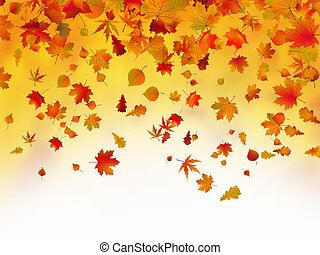 Fallen autumn leaves background. EPS 8 vector file included