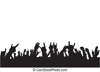 Abstract vector illustration on fans on concert