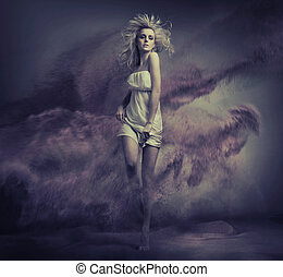 Fantasy type image of cute young lady