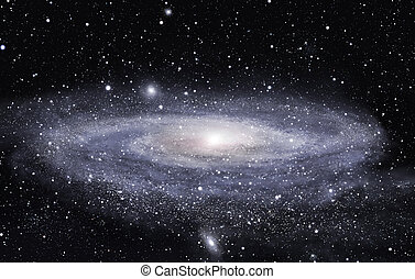 Detailed picture of the distant spiral galaxy