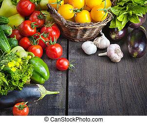 organic food background; Farmers Vegetable Market