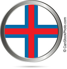 Faroe Islands flag button.