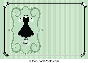 fashion shop. retro template design