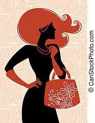 Fashion shopping girl