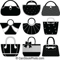 9 handbags for women.