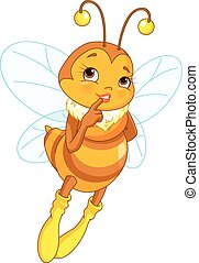 Illustration of cute femininity bee