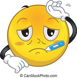 Illustration of a Sick Smiley