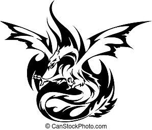 Fiery Phoenix tattoo