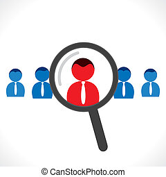 find right people for jobs concept vector