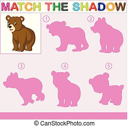Find the correct shadow of the bear