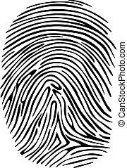 Criminal fingerprint for detective, sequrity orprivacy design concepts
