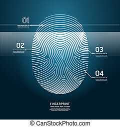 Fingerprint Scan vector illustration.